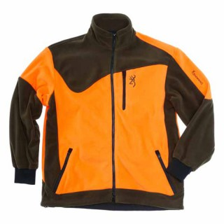 BROWNING Powerfleece Jacke Grün/Orange Gr. M