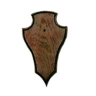 Gehörnbrett für Rehwild, 19X12cm mit Ausfräsung