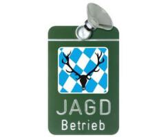 """Autoschild """"Jagdbetrieb"""" versch. Länder"""