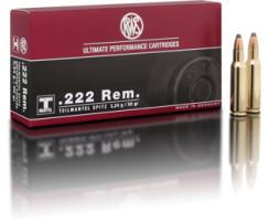 RWS .222Rem. 3,24 g / 50 gr TMS pro Packung=20 Stück