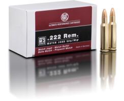 RWS .222 Rem. MJ 3,4 g / 52 gr pro Packung=50 Stück