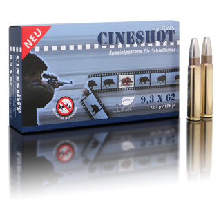 RWS 9,3x62 Cineshot 12,7 g / 196 gr  pro Packung=20 Stück