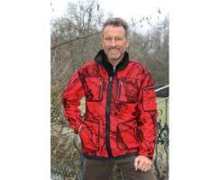 MOSSY-RED Softshell-Jacke für Herren