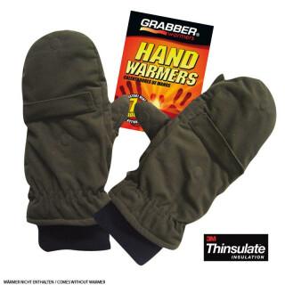 Spezial Wärmefäustlinge Handschuhe mit abklappbarem Fäustling