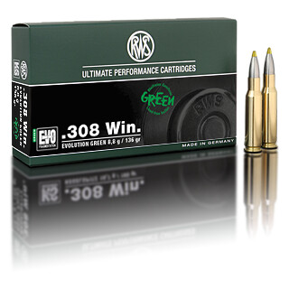 RWS .308 WIN Evolution Green 8,8G  pro Packung=20 Stück