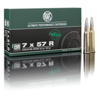 RWS 7 x 57 R Evolution Green 8,2G  pro Pack=20 Stück