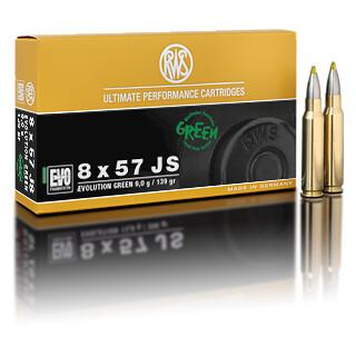 RWS 8 x 57 JS Evolution Green 9,0G pro Pack=20 Stück