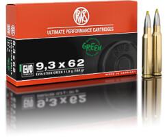 RWS 9,3 x 62 Evolution Green 11,9G pro Packung=20 Stück