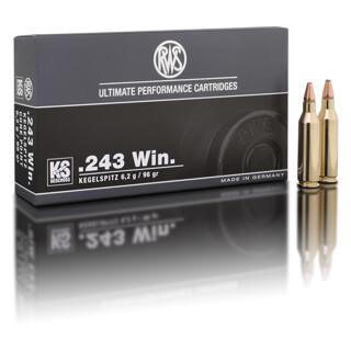 RWS .243 WIN KS 6,2G pro Packung=20 Stück