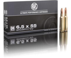 RWS 6,5 x 55 DK 9,1G pro Packung=20 Stück