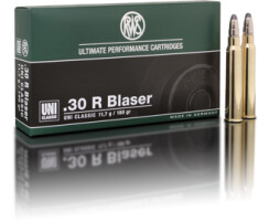RWS .30 R BLASER UNI Classic 11,7G  pro Pack=20 Stück