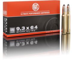 RWS 9,3 x 64 UNI Classic 19,0G pro Pack=20 Stück