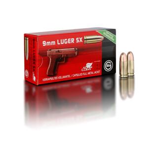 9 mm Luger 8,0 g Vollmantel-Rundkopf, verkapselt   Pack=50 Stück