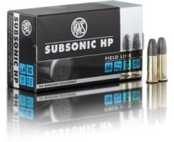RWS .22 lfB Subsonic HP  pro Pack=50 Stück