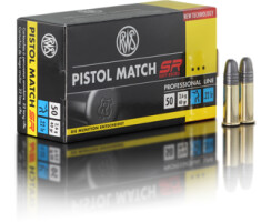 RWS Pistol Match SR  .22lfb pro Pack=50 Stück