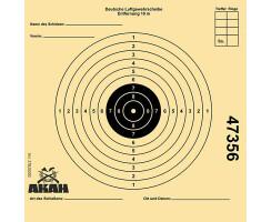 AKAH Luftgewehr-Scheibe 12x12cm mit 10 Ringen