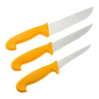 LANDIG 3-teiliger Profi-Messersatz Fleischermesser Zerwirken