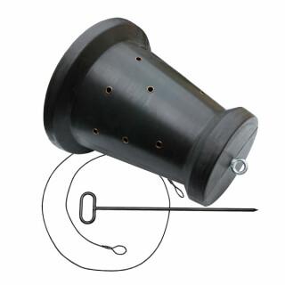 Kirrtrommel Futtertrommel Sauenkreisel Sautrommel in Kegelform mit Bodenanker