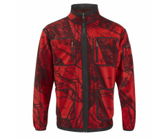 MOSSY-RED Softshell-Jacke für Herren Gr. 4XL(10)