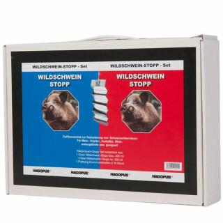 HAGOPUR Wildschwein-Stopp  Set a. 400 ml rot und blau mit Alustreifen