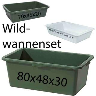 Wildwanne Set 3-teilig