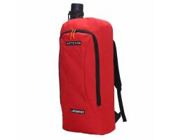 Legend ARCHERY Premium Rucksack (rot) mit Pfeilröhre