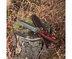 Messer Parforce Boar Hunter Pakka - 440-Stahl mit Schweißrinne und attraktive Pakkaholz- Griffschalen