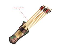 Holsterköcher Pfeilköcher für Holzpfeile oder Carbonpfeile zum Bogenschießen