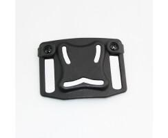 Gürtel - Holster für Glock 17/18/19/25 schwarz einstellbar mit Sicherung
