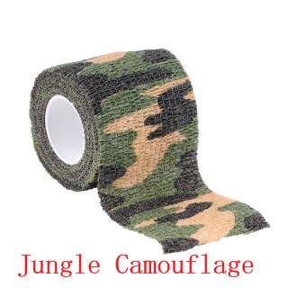 Outdoor Tarnband 5 cm  x  4,5 m selbsthaftend wiederverwendbar Camo Jagd Angeln Camping Radfahren Jungle Camo
