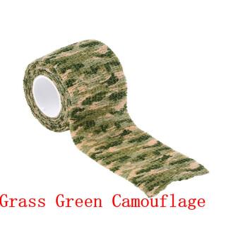 Outdoor Tarnband 5 cm  x  4,5 m selbsthaftend wiederverwendbar Camo Jagd Angeln Camping Radfahren Grass Green Camo