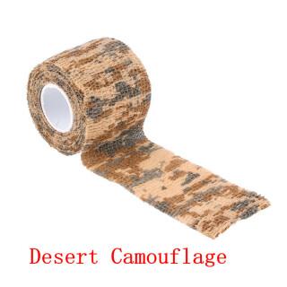 Outdoor Tarnband 5 cm  x  4,5 m selbsthaftend wiederverwendbar Camo Jagd Angeln Camping Radfahren Dessert Camo