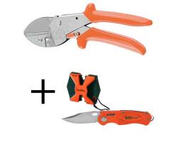 LÖWE Jagdschere 1.117 Aufbrechschere Zerwirkschere das Original + Messer und Schärfer von AKKU SHARP