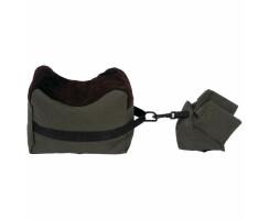 Gewehrauflage Einschießsack Benchrest 2teilig grün/schwarz