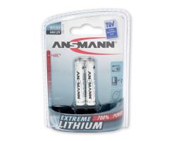 2x ANSMANN Extreme Lithium Batterie 1,5 V Micro AAA