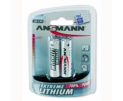 2x ANSMANN Extreme Lithium Batterie 1,5 V Mignon AA