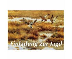 Jagdeinladungskarten Ente