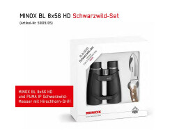 MINOX BL 8X56 HD Schwarzwild-Set