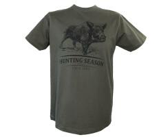 Jagdliches T-Shirt SAU grün
