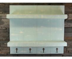 Badezimmerregal Vintage Shabby aus Massivholz Farbe:...