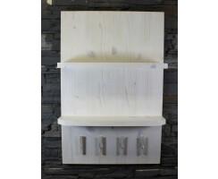 Badezimmerregal mit Handtuchhalter Vintage Massivholz...