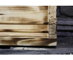 Gewürzboard geflammt Vintage Massivholz Gewürzregal 35cm