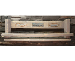 Gewürzboard Weinregal 80cm grau mit Motiv Vintage...