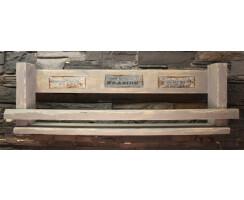 Gewürzboard Weinregal 87cm grau mit Motiv Vintage...