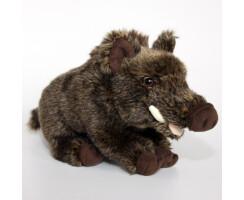 Wildschwein sitzend aus Plüsch