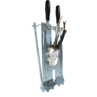 Abschlagvorrichtung mit Gehörnsäge für Rehwild oder Hirschen