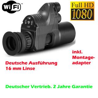 PARD NV007a Linse 16mm Wifi 850nm IR Nachsatzgerät Edition 2020 Sony HD Linse
