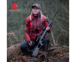 SHOOTERKING Damen Softshell Jacke wendbar Forest Mist rot