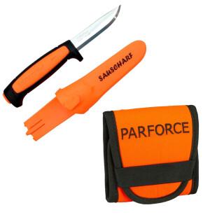 "Parforce Patronenetui orange Mit Mora Messer ""sauscharf"""