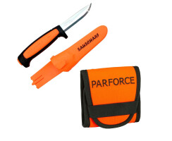Parforce Patronenetui orange Mit Mora Messer...